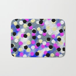 Dotts and texture Abstract Pattern Bath Mat