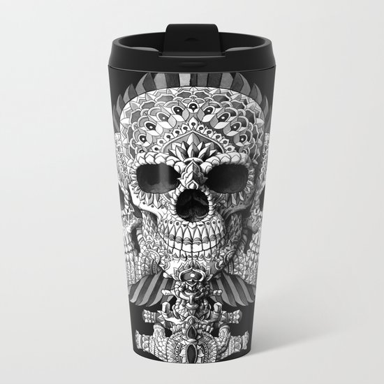 Skull Spade Metal Travel Mug