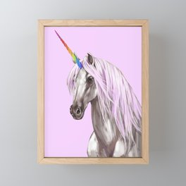 Pink Unicorn Framed Mini Art Print
