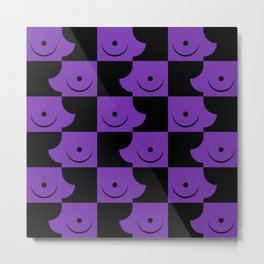 Streapchess_03 | Black and Purple Metal Print