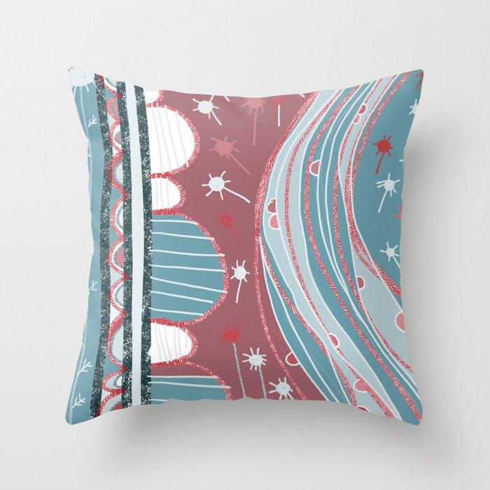 A country walk Throw Pillow