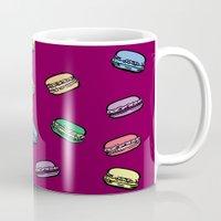 macaroons Mugs featuring parisian macaroons by yayanastasia