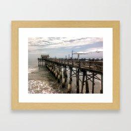 Cocoa Beach Pier Framed Art Print