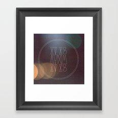 it is what it is [vrsn 2] Framed Art Print