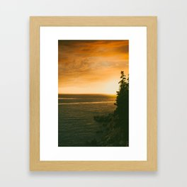 Atypical Sunset Framed Art Print