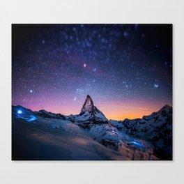 Mountain Reach the Galaxy Canvas Print