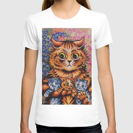 Cat and Her Kittens-Louis Wain Cats T-shirt