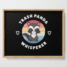 Trash Panda Whisperer Cute Raccoon Gift Serving Tray