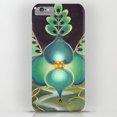 Green Flower Slim Case iPhone 6 Plus