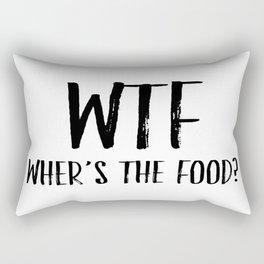 Kitchen Decor, Where's the Food, Food Lover, Home Decor, Wall Art Rectangular Pillow