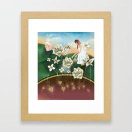 Origami Garden Framed Art Print