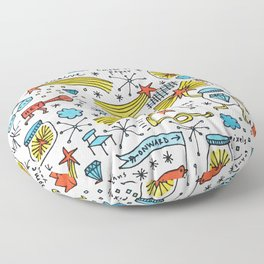 chasing stars and putting them in jars Floor Pillow