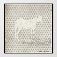 Dot Horse Canvas Print