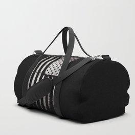 White Grunge USA flag Duffle Bag