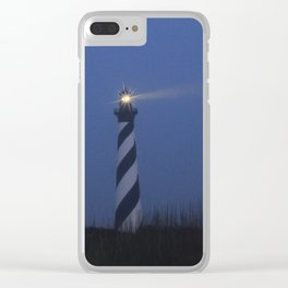 Cape Hatteras at night Clear iPhone Case