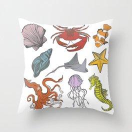 Sea-life Collection Throw Pillow
