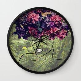 Flores Salvajes (Wild Flowers) Wall Clock