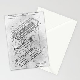 Electrical keyboard Stationery Cards