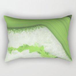Greenery Agate Rectangular Pillow