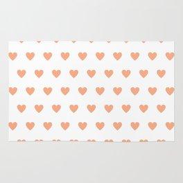 Polka dot hearts - pink Rug