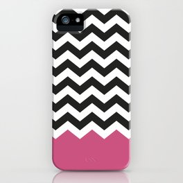 Chevron Bicolor and Magenta iPhone Case