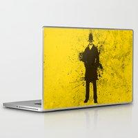 watchmen Laptop & iPad Skins featuring WATCHMEN - RORSCHACH (YELLOW EDITION) by Zorio