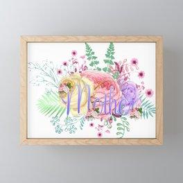 Mothers Roses Flowers Framed Mini Art Print