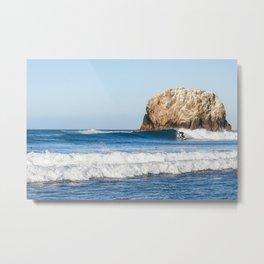 The Secret Surf Spot Metal Print