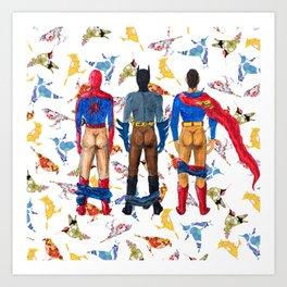 Super Hero BUTTs | It's a bird, it's a plane, it's... a booty Art Print