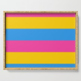 Pansexual Pride Flag v2 Serving Tray