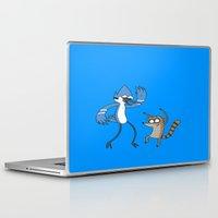 regular show Laptop & iPad Skins featuring Regular show by Duitk