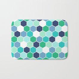 Galactic Hexagons 1 Bath Mat
