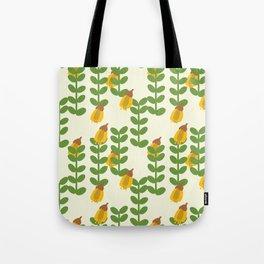 Retro Kowhai Pattern Tote Bag