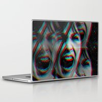 american psycho Laptop & iPad Skins featuring PSYCHO by Inception of The Matrix