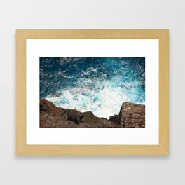 Rough Waters Framed Art Print