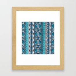 Grand Bazaar - Blue Framed Art Print