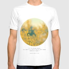 Forsythia MEDIUM White Mens Fitted Tee