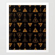 Seeing (Dark) Art Print