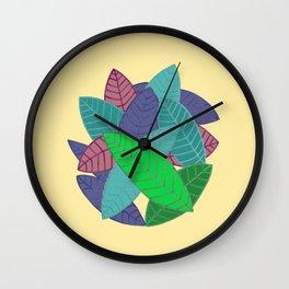 Leaves Overlap Wall Clock