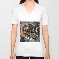 monty python V-neck T-shirts featuring Python by GardenGnomePhotography