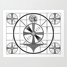 Indian-Head Test Pattern Art Print