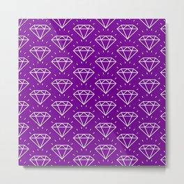 DIAMOND ((violet)) Metal Print