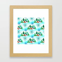 Christmas, Home for the Holidays, Peaceful Snow Framed Art Print