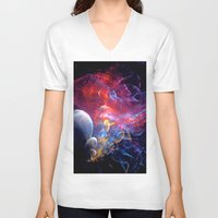 medusa V-neck T-shirts featuring Medusa by Art-Motiva