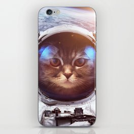 Cat in space iPhone Skin