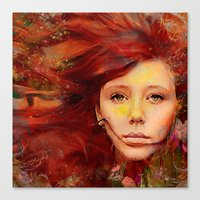 irish Canvas Prints featuring Irish fairy by Joe Ganech