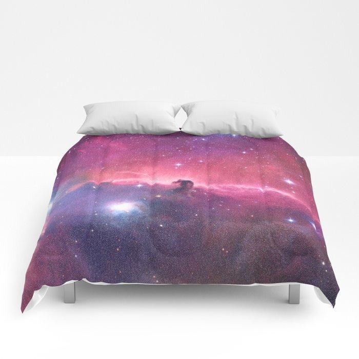 Pink Nebula Comforters