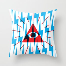 the eye sees all! Throw Pillow