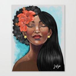 Hibiscus Versatile Afro Canvas Print