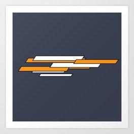 Simple Minimal Glitch Art Print